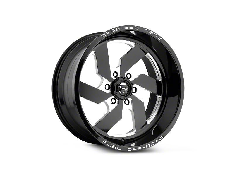 Fuel Wheels Turbo Black Milled 6-Lug Wheel - 17x9 (07-18 Silverado 1500)