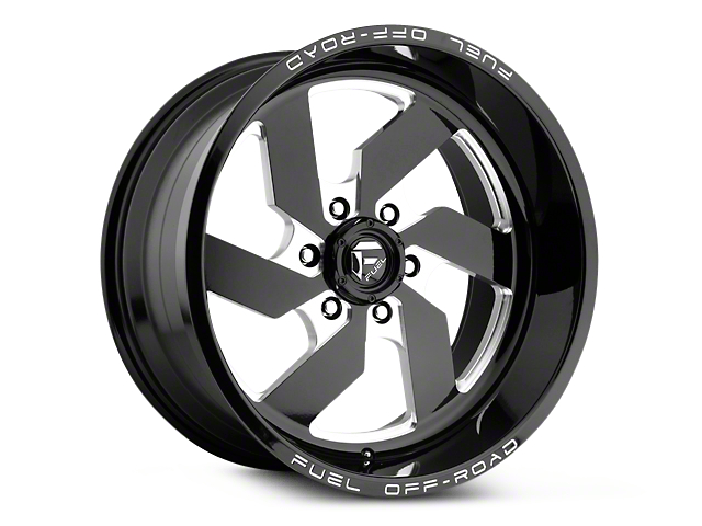 Fuel Wheels Turbo Black Milled 6-Lug Wheel - 17x9 (99-18 Silverado 1500)