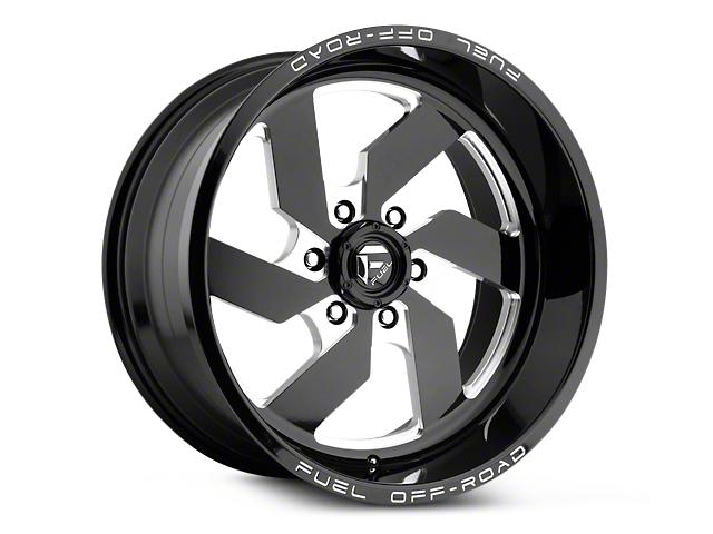 Fuel Wheels Turbo Black Milled 6-Lug Wheel - 17x9 (99-19 Silverado 1500)