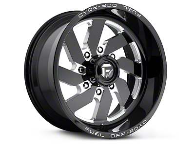 Fuel Wheels Turbo Black Milled 6-Lug Wheel - 18x9 (99-18 Silverado 1500)