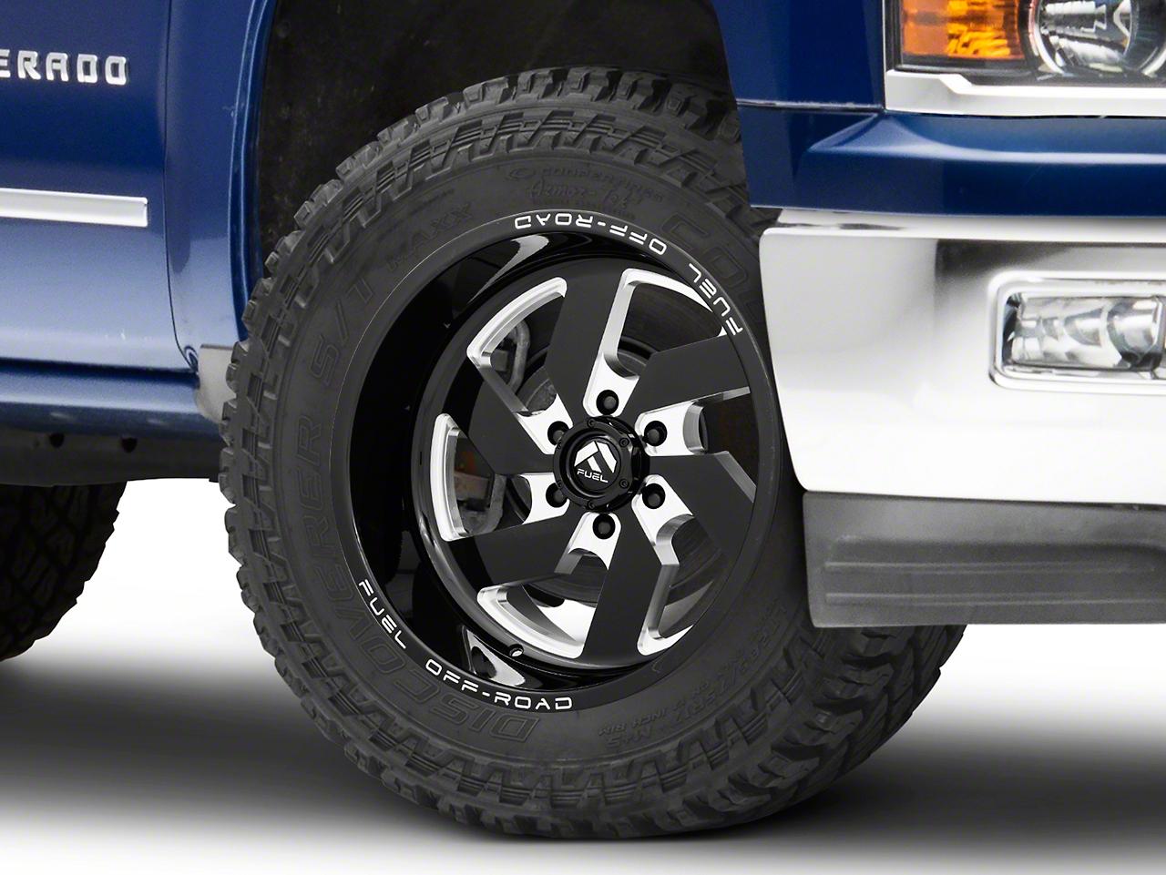 Fuel Wheels Turbo Black Milled 6-Lug Wheel - 20x10 (99-18 Silverado 1500)