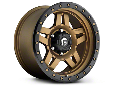 Fuel Wheels Anza Matte Bronze w/ Black Ring 6-Lug Wheel - 17x8.5 (99-18 Silverado 1500)