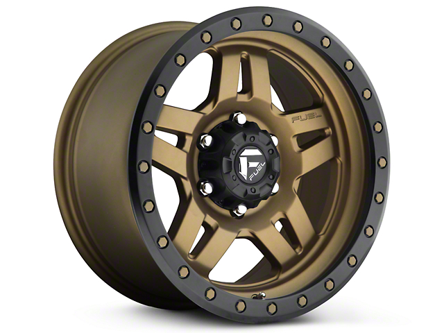 Fuel Wheels Anza Matte Bronze w/ Black Ring 6-Lug Wheel - 18x9 (99-18 Silverado 1500)