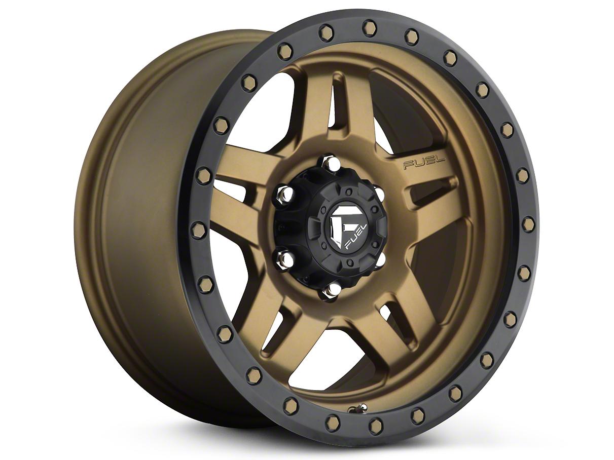 Fuel Wheels Anza Matte Bronze w/ Black Ring 6-Lug Wheel - 18x9 (07-18 Silverado 1500)