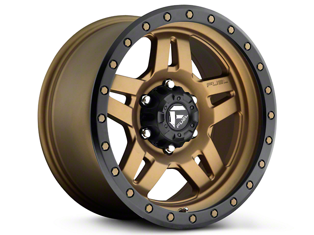 Fuel Wheels Anza Matte Bronze w/ Black Ring 6-Lug Wheel - 20x9 (99-18 Silverado 1500)