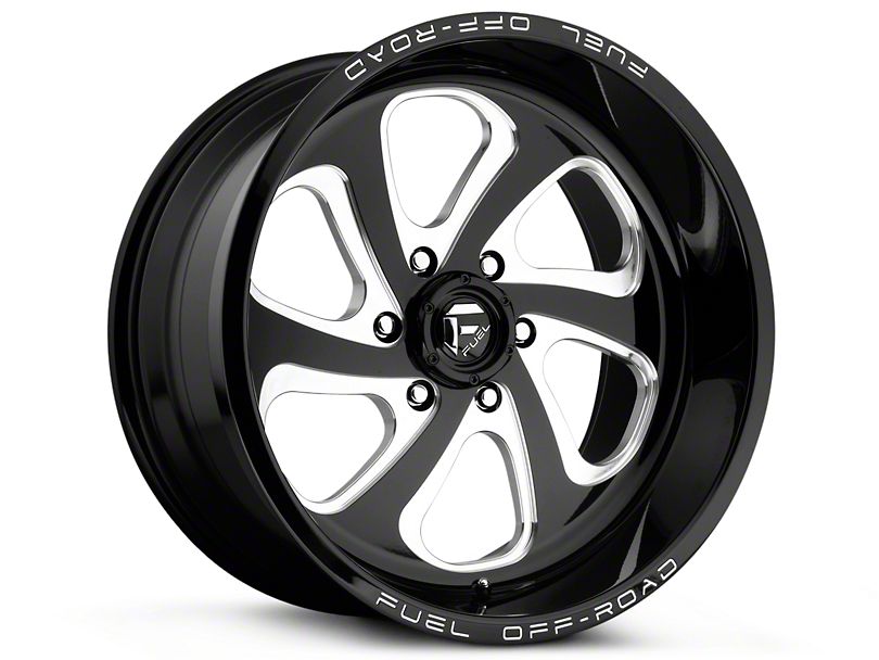 Fuel Wheels Flow Gloss Black Milled 6-Lug Wheel - 17x9 (99-18 Silverado 1500)