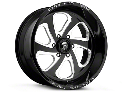Fuel Wheels Flow Gloss Black Milled 6-Lug Wheel - 17x9 (07-18 Silverado 1500)