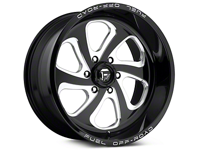 Fuel Wheels Flow Gloss Black Milled 6-Lug Wheel - 18x9 (99-18 Silverado 1500)