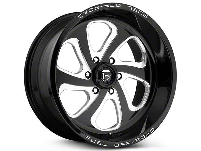Fuel Wheels Flow Gloss Black Milled 6-Lug Wheel - 20x9 (99-18 Silverado 1500)