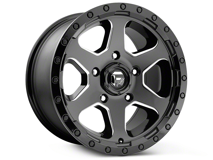 Fuel Wheels Ripper Gloss Black Milled 6-Lug Wheel - 17x9 (99-18 Silverado 1500)