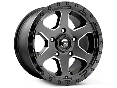 Fuel Wheels Ripper Gloss Black Milled 6-Lug Wheel - 17x9 (07-18 Silverado 1500)
