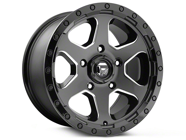 Fuel Wheels Ripper Gloss Black Milled 6-Lug Wheel - 20x9 (07-18 Silverado 1500)