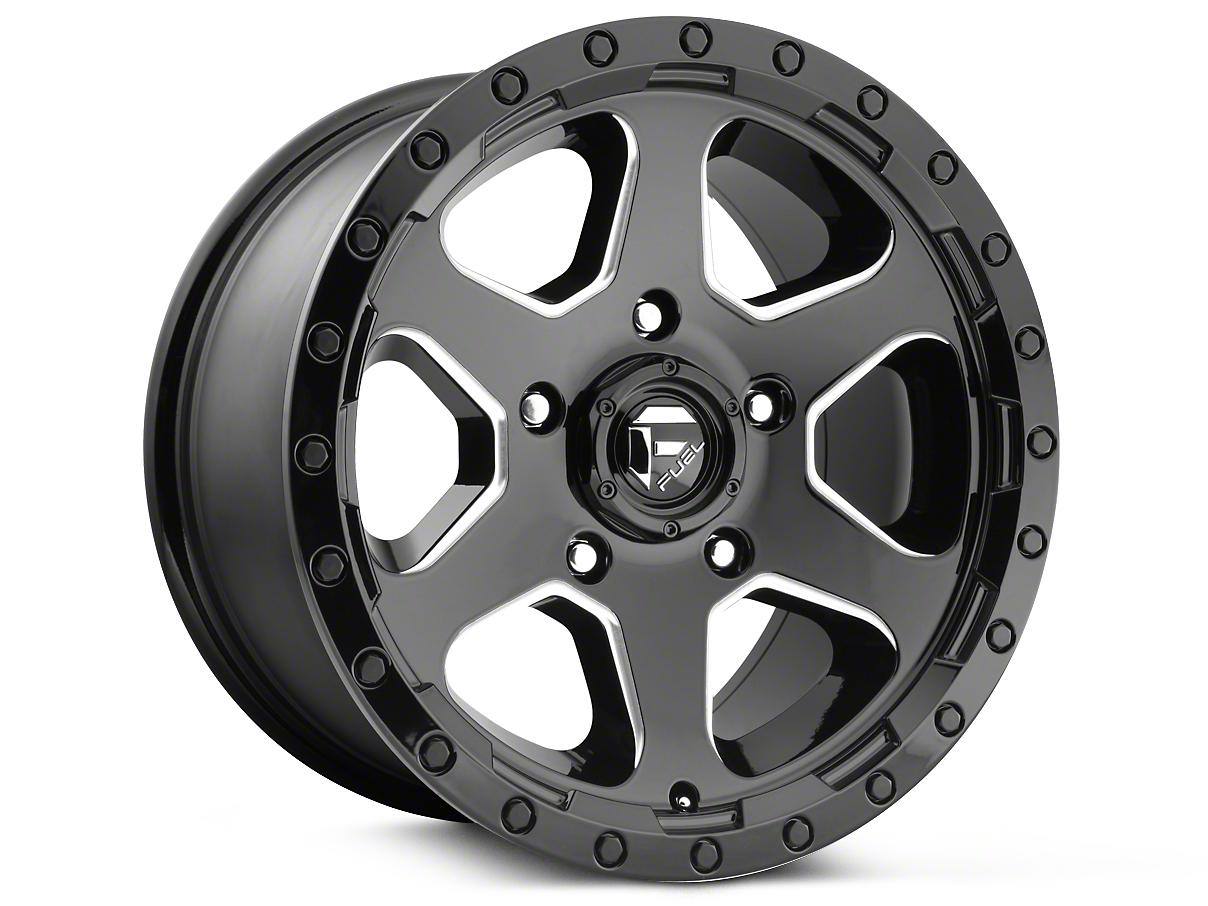 Fuel Wheels Ripper Gloss Black Milled 6-Lug Wheel - 20x9 (99-18 Silverado 1500)