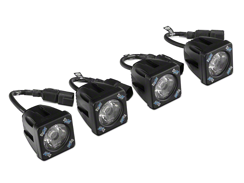 Vision X Fog Light Mounting Kit w/ Square LED Lights (07-13 Silverado 1500)