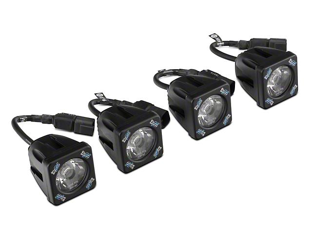 Vision X Fog Light Mounting Kit W/ Square LED Lights (07 13 Silverado 1500)