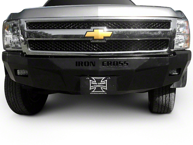 Iron Cross RS Series Front Bumper; Gloss Black (07-13 Silverado 1500)