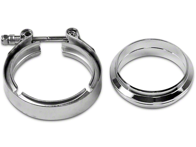 GMS 3 in  Mating Flat Flange w/ V-Band Exhaust Clamp - Stainless Steel  (99-19 Silverado 1500)