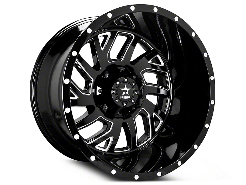 RBP 65R Glock Gloss Black Machined 6-Lug Wheel - 22x14 (99-19 Silverado 1500)