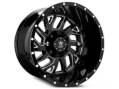 RBP 65R Glock Gloss Black Machined 6-Lug Wheel - 22x14 (07-18 Silverado 1500)