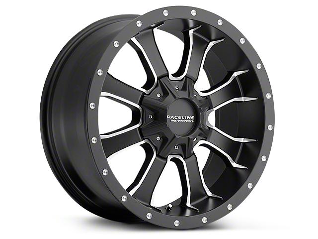 Raceline Mamba Black Milled 6-Lug Wheel - 20x9 (99-19 Silverado 1500)