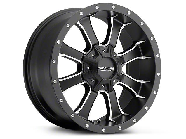 Raceline Mamba Black Milled 6-Lug Wheel - 20x9 (99-18 Silverado 1500)