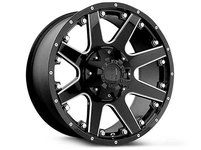Havok Off-Road H102 Black Milled 6-Lug Wheel - 18x9 (99-19 Silverado 1500)