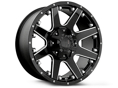 Havok Off-Road H102 Black Milled 6-Lug Wheel - 18x9 (99-18 Silverado 1500)