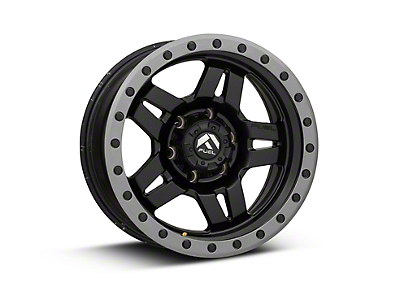 Fuel Wheels Anza Matte Black w/ Anthracite Ring 6-Lug Wheel - 17x8.5 (07-18 Silverado 1500)