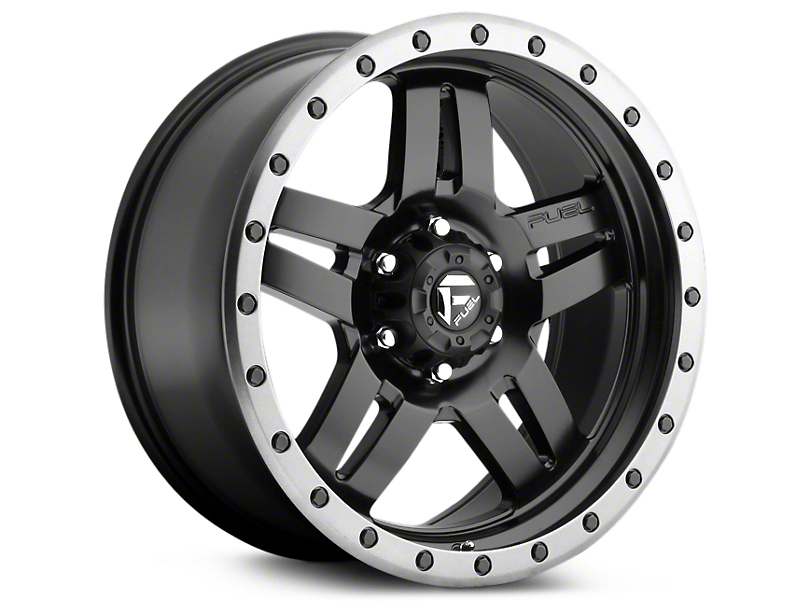 Fuel Wheels Anza Matte Black w/ Anthracite Ring 6-Lug Wheel - 20x9 (99-20 Silverado 1500)