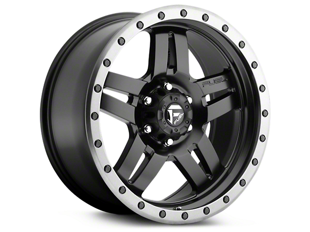 Fuel Wheels Anza Matte Black w/ Anthracite Ring 6-Lug Wheel; 20x9 (99-20 Silverado 1500)
