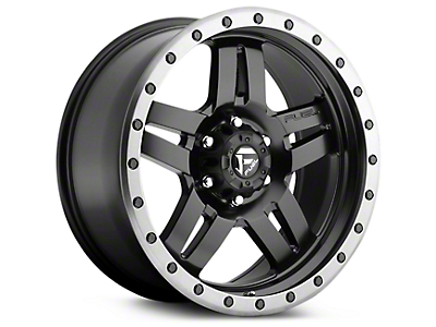 Fuel Wheels Anza Matte Black w/ Anthracite Ring 6-Lug Wheel - 20x9 (07-18 Silverado 1500)