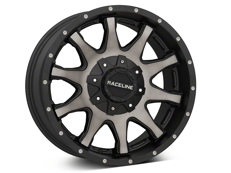 Raceline Shift Black Machined w/ Dark Tint 6-Lug Wheel - 18x9 (07-18 Silverado 1500)