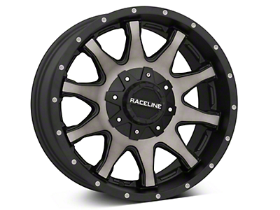 Raceline Shift Black Machined w/ Dark Tint 6-Lug Wheel - 18x9 (99-18 Silverado 1500)