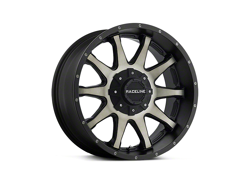 Raceline Shift Black Machined w/ Dark Tint 6-Lug Wheel - 20x9 (07-18 Silverado 1500)