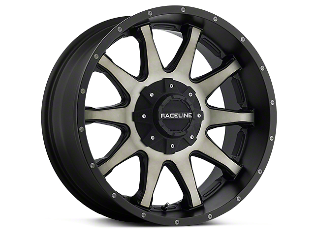 Raceline Shift Black Machined w/ Dark Tint 6-Lug Wheel; 20x9 (99-20 Silverado 1500)
