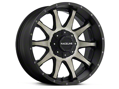 Raceline Shift Black Machined w/ Dark Tint 6-Lug Wheel - 20x9 (99-18 Silverado 1500)