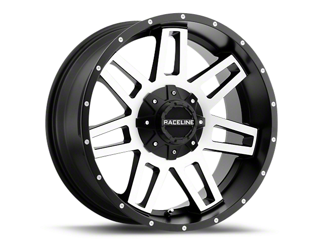 Raceline Injector Black Machined 6-Lug Wheel - 20x9 (99-19 Silverado 1500)