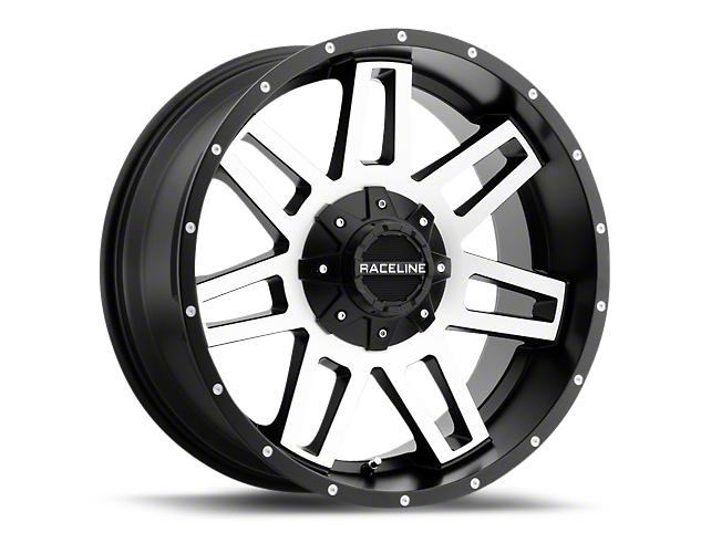 Raceline Injector Black Machined 6-Lug Wheel - 20x9 (99-18 Silverado 1500)