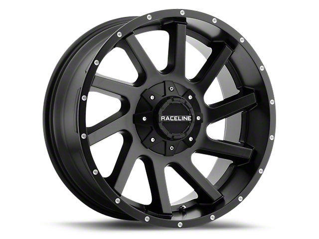 Raceline Twist Black 6-Lug Wheel; 20x9 (99-20 Silverado 1500)