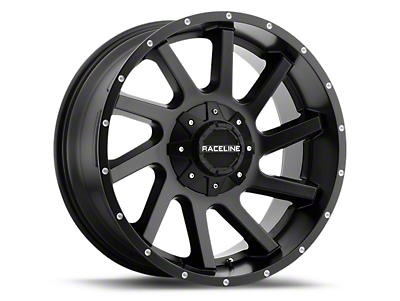 Raceline Twist Black 6-Lug Wheel - 20x9 (07-18 Silverado 1500)