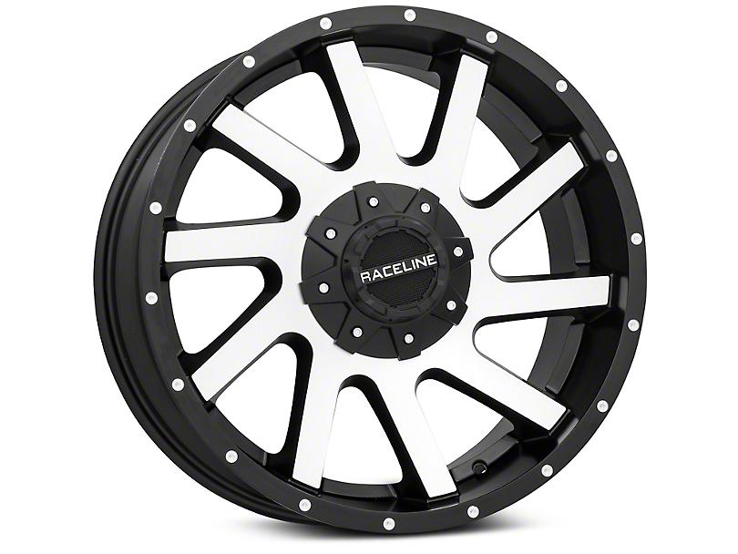 Raceline Twist Black Machined 6-Lug Wheel - 20x9 (99-18 Silverado 1500)
