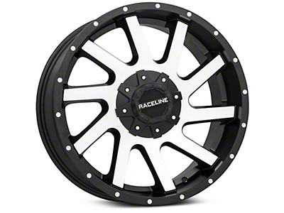 Raceline Twist Black Machined 6-Lug Wheel - 20x9 (99-18 Silverado 1500)