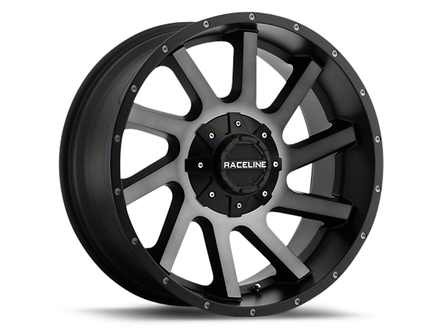 Raceline Twist Black Machined w/ Dark Tint 6-Lug Wheel - 20x9 (99-19 Silverado 1500)