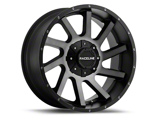 Raceline Twist Black Machined w/ Dark Tint 6-Lug Wheel - 20x9 (99-18 Silverado 1500)