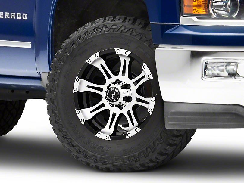 Raceline Raptor Black Machined Wheel - 18x9 (99-18 Silverado 1500)