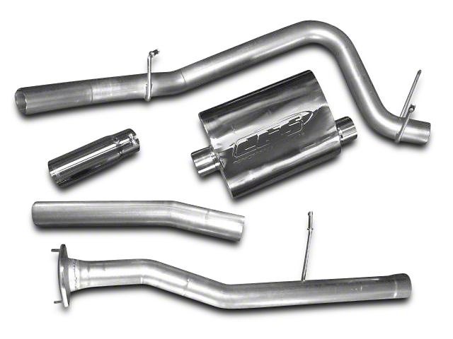 CGS Motorsports Aluminized Single Exhaust System - Side Exit (10-11 6.2L Silverado 1500)