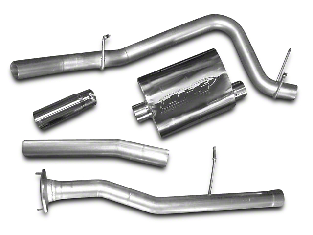 CGS Motorsports Stainless Single Exhaust System; Side Exit (10-11 6.2L Silverado 1500)
