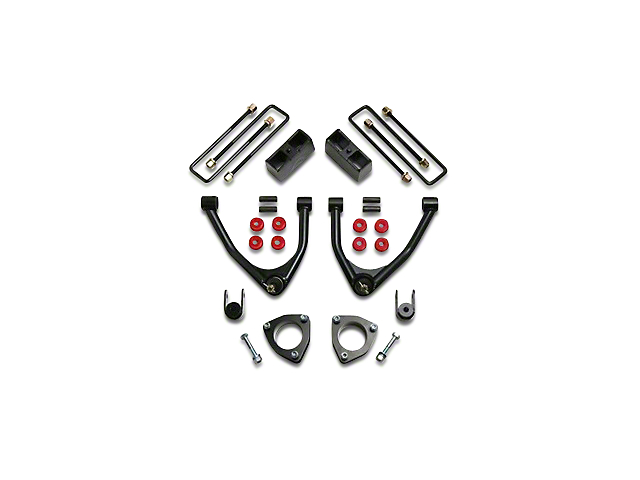 ReadyLIFT 4-Inch Front / 1.75-Inch Rear SST Suspension Lift Kit (07-18 2WD Silverado 1500 w/ Stock Cast Steel Control Arms)