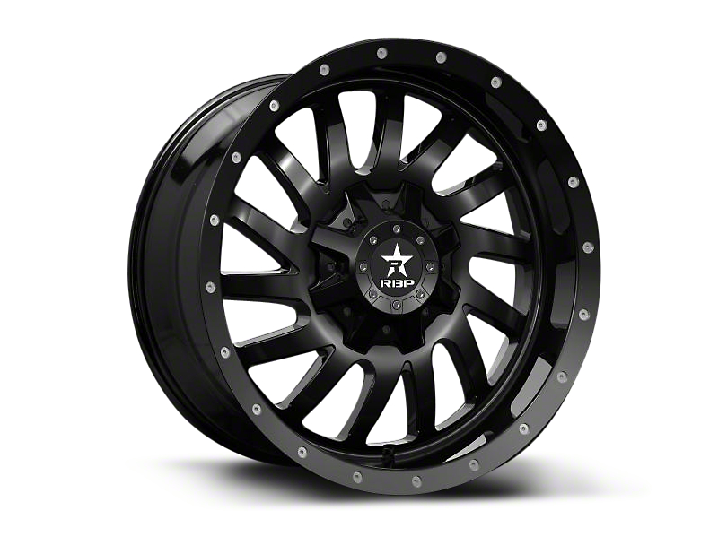RBP 78R Uzi Gloss Black 6-Lug Wheel - 20x9 (07-18 Silverado 1500)