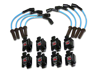 GMS Xtreme Power LS Series Coil Packs w/ High Performance Ignition Wires (07-13 4.8L, 5.3L, 6.0L Silverado 1500)